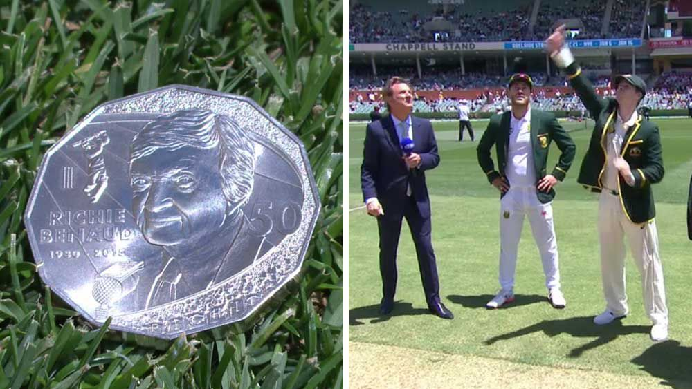 Cricket: Benaud returns to the middle for coin toss
