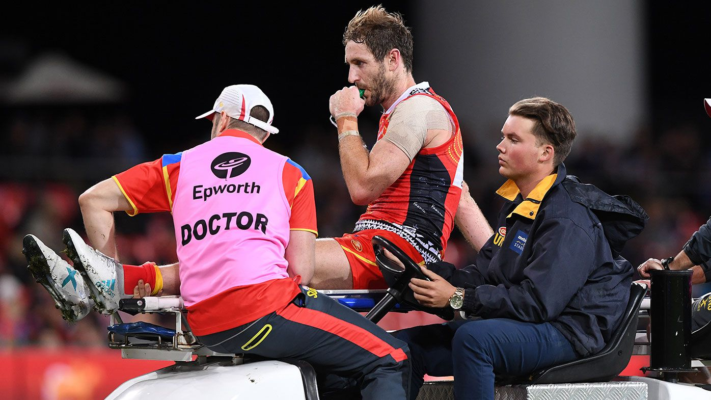 Gold Coast Suns recruit Michael Barlow has successful surgery after fracturing leg