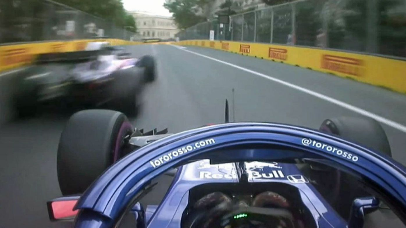 Toro Rosso teammates Brendon Hartley and Pierre Gasly in frightening near-miss at Azerbaijan Grand Prix qualifying