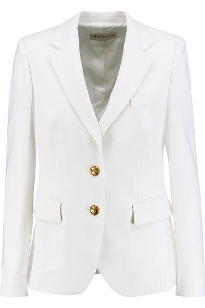 "<a href=""http://www.theoutnet.com/en-AU/product/Emilio-Pucci/Wool-blend-crepe-blazer/679774"" target=""_blank"">Blazer, $841, Emilio Pucci at theoutnet.com</a>"
