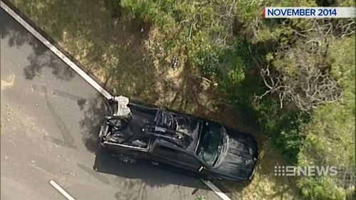 Beardsmore and Hay were killed in the fiery crash. (9NEWS)