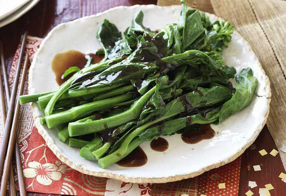 Gai lan with oyster sauce