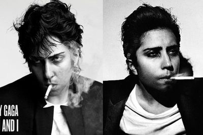 What do you do when you've literally worn every crazy frock on the planet? You switch to <br/>menswear, of course. Gaga posed as her alter-ego Jo Calderone for the single artwork for 'You and I'.