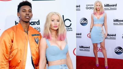Nick Young hit the red carpet alongside Iggy Azalea who received 12 nominations. (AAP)