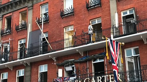 At the Harte and Garter Hotel, ABC America has taken out around half a dozen rooms – some of those are just for hair and makeup. Picture: 9NEWS/Gabrielle Adams