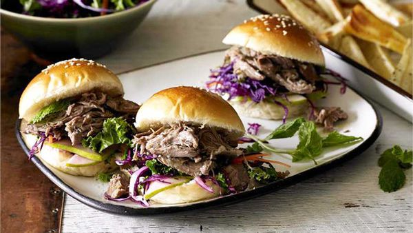 Pear and sage lamb sliders by Poh Ling Yeow