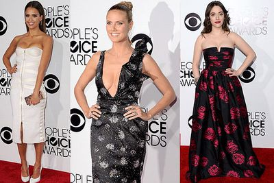 The public voted on their fan favourites in music, TV and film for the 2014 People's Choice Awards: Check out the red carpet frocks!