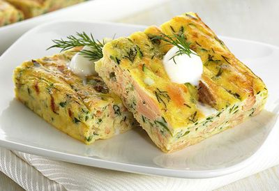 "Recipe:&nbsp;<a href=""http://kitchen.nine.com.au/2016/05/05/13/53/smoked-trout-frittata-squares"" target=""_top"">Smoked trout frittata squares</a>"