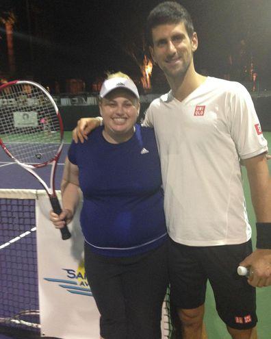 Rebel Wilson Novak Djokovic