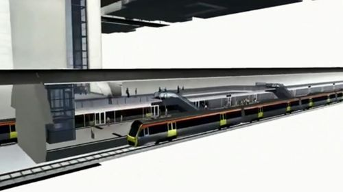 Cross River Rail will integrate with proposed Brisbane Metro services. (9NEWS)
