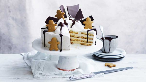 Curtis Stone's get-ahead gingerbread festive ice cream cake recipe