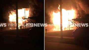 Ferocious fire rips through family home