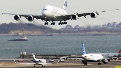 Plane makes emergency landing in Boston after fire on board
