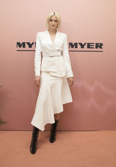 Model Jesinta Franklin in Victoria Beckham at the Myer spring/summer '18 show