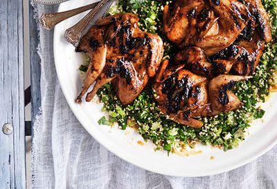 Quail with lemon tabbouleh