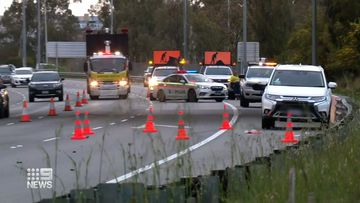 The horror smash shutdown a number of lanes on the Mitchell Freeway.