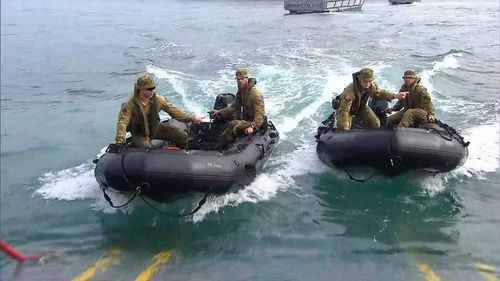 The ADF's visit aims to strengthen security and partnerships. (9NEWS)