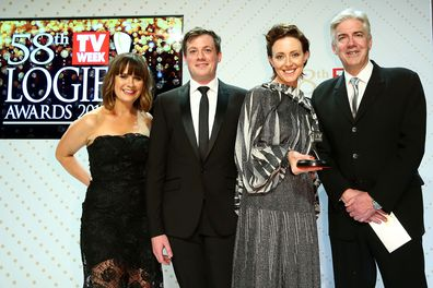 Roz Hammond, Shaun Micallef and the cast of Mad As Hell
