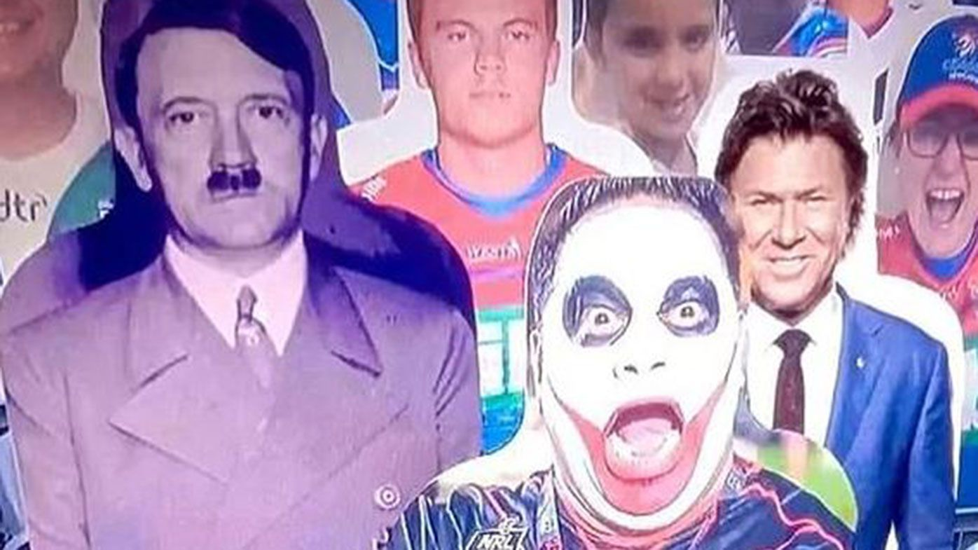 A Fox Sports segment used an image of Adolf Hitler as a joke about the NRL's fan-in-the-stand initiative.