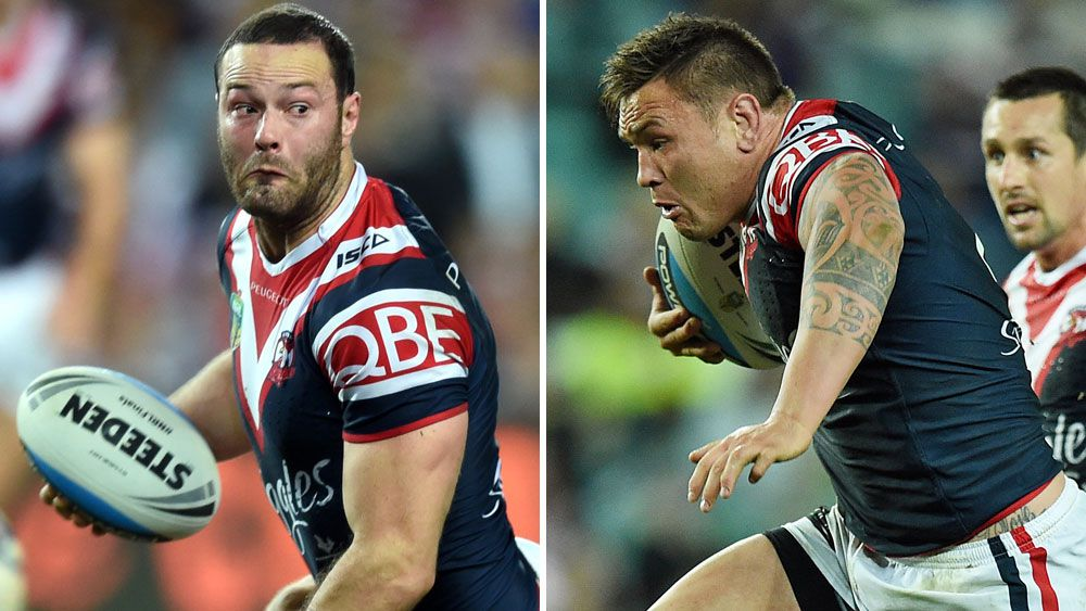 Boyd Cordner and Jared Waerea-Hargreaves.(AAP)