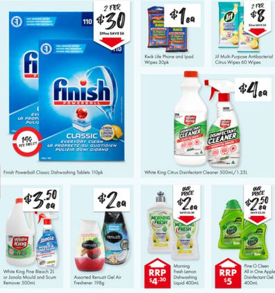 At The Reject Shop you can stock up on cleaning products this week.