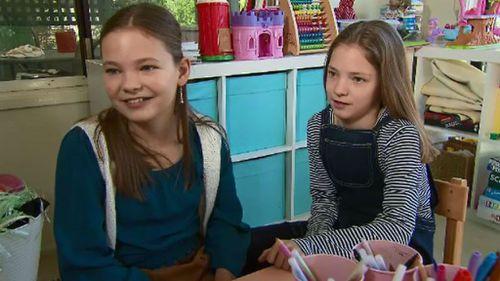 Ella (left) and Jasmine Hose. (9NEWS)