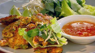 """Recipe: <a href=""""http://kitchen.nine.com.au/2016/05/17/12/52/hanoi-prawn-cakes"""" target=""""_top"""">Hanoi prawn cakes</a>"""