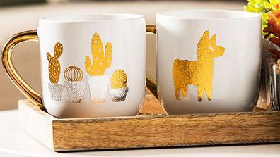 Cricut Joy project cactus llama mugs
