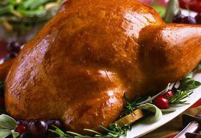 Vegan turkey dinner