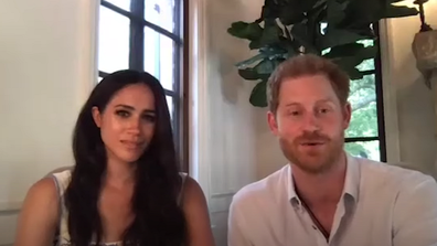 The Duke and Duchess of Sussex joined in from their new home in Santa Barbara.