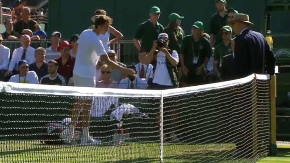 Russian Daniil Medvedev throws coins at chair umpire after second round loss at Wimbledon