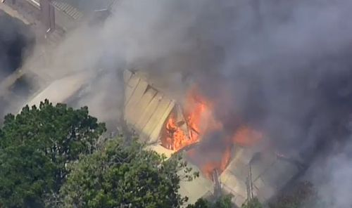 It's unclear what sparked the grass fire. (9NEWS)