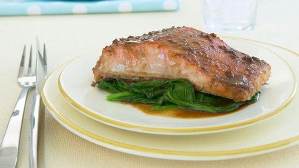 Slow-roasted salmon fillet