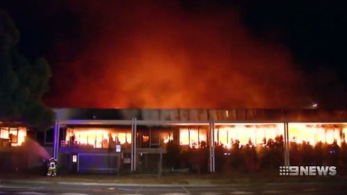 The fire broke out on the night of August 15, 2010. (9NEWS)
