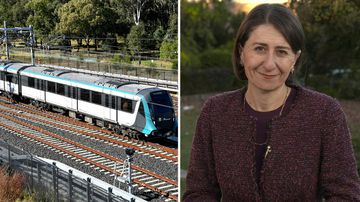 190527 Sydney Metro launch Gladys Berejiklian transport news NSW Australia SPLIT