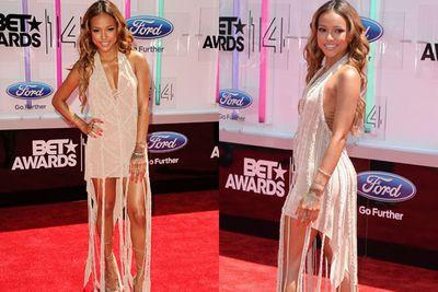 Although Karrueche Tran's dating Chris Brown now... she's still no Rihanna.