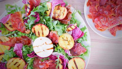 Grilled nectarines make a perfect summer showstopper salad