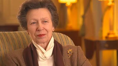 Princess Anne being interviewed in the documentary Anne: The Princess Royal at 70