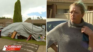 Woman who turned neighbours lawn into a campsite arrested on drug charges