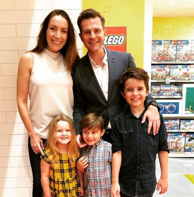 David Campbell, wife Lisa and kids Leo, Billy and Betty