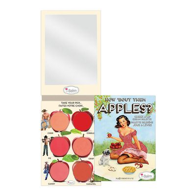 "<a href=""http://www.sephora.com.au/products/3697/v/default"" target=""_blank"">TheBalm How 'Bout Them Apples Lip and Cheek Cream Palette,$67.50.</a>"