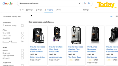 Compare prices of an item online, before heading into a store.