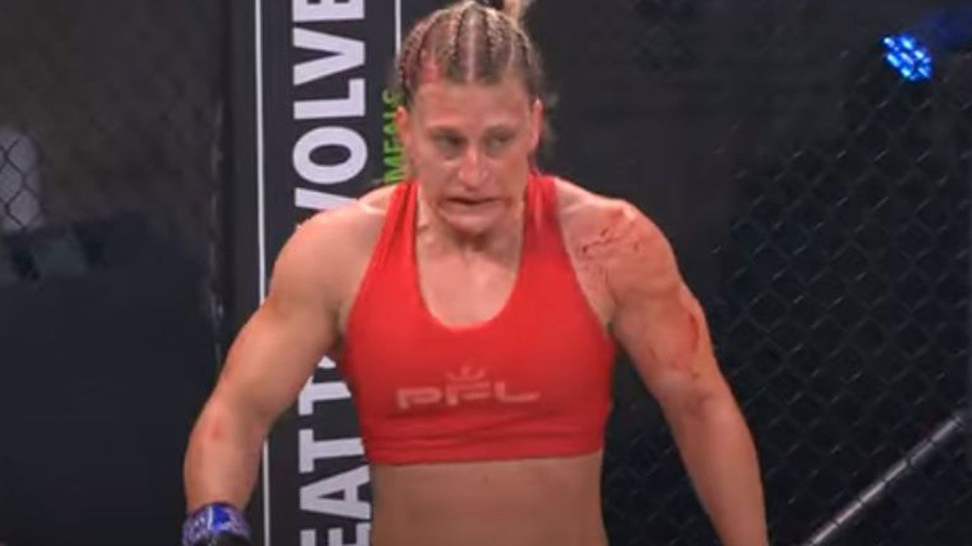 Olympic champ Kayla Harrison's bloody TKO win in featherweight, Invicta FC debut