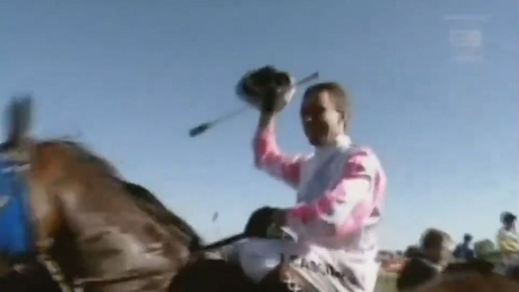 Retired jockey Jim Cassidy pays tribute to star race horse Might And Power