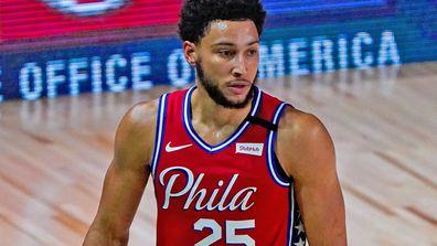 Ben Simmons #25 of the Philadelphia 76ers