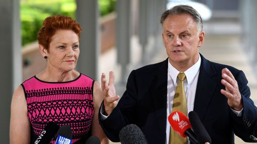 Pauline Hanson and Mark Latham.