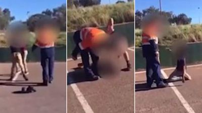 Disturbing video shows father and son allegedly assaulting teen