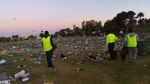 Clean-up has started to clear the huge mess. (9NEWS)