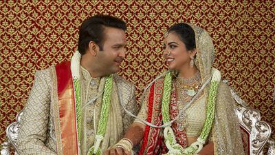 Newlyweds Anand Piramal and Isha Ambani