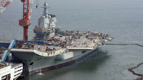 The country has launched the sea-based exercises involving its Liaoning aircraft carrier.
